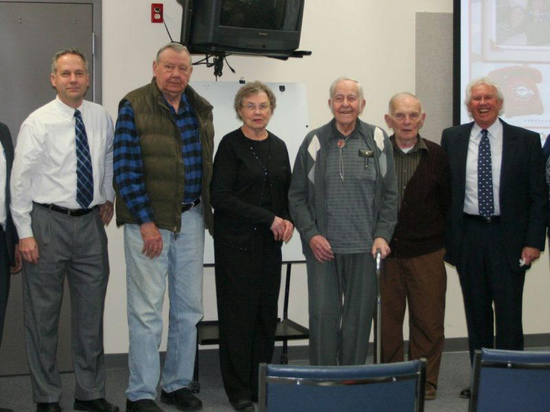 Jim Hickey, Scott Brown, Don Sabatke, Hazel Zieman, Homer Vick, Jr., George Fuller, Pat Kennedy, Jerry Adrian.